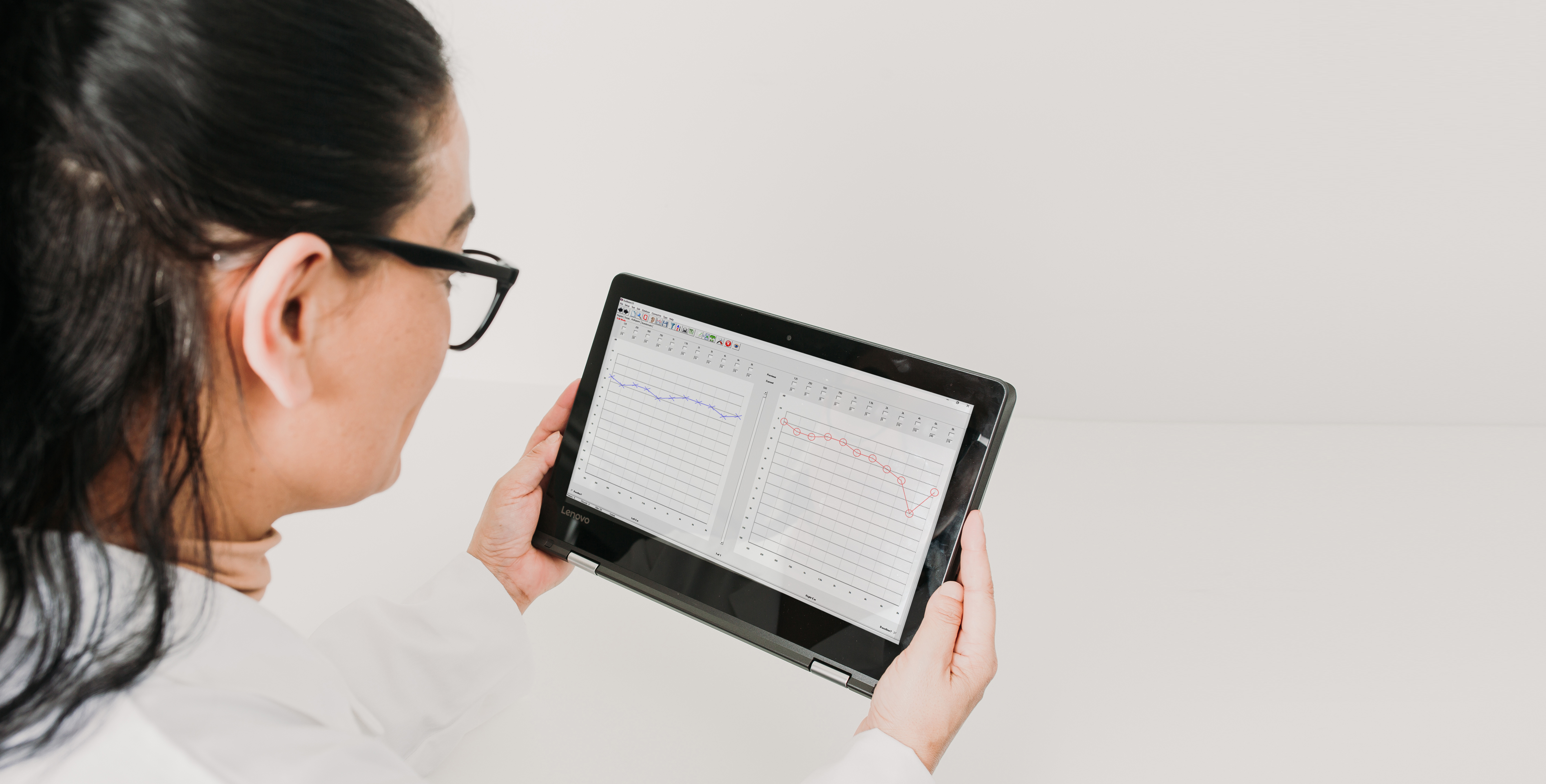 Audibase Software on Tablet