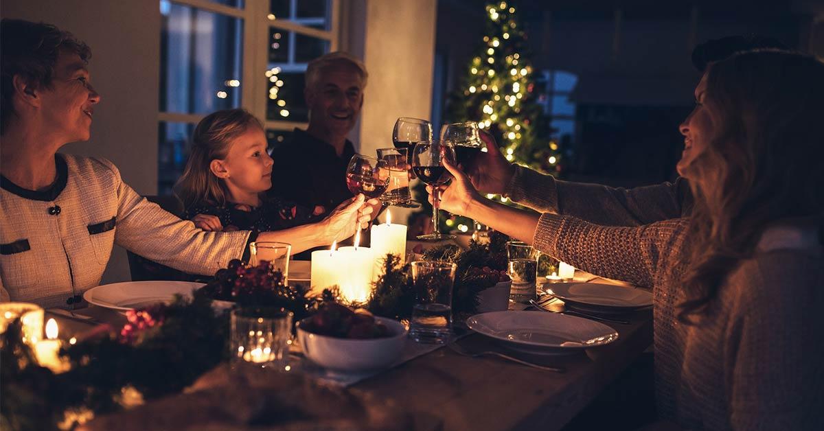 Weihnachtsfeier mit der Familie