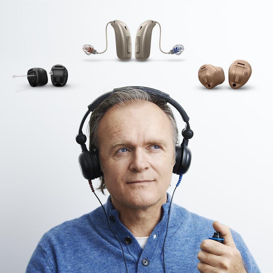 Suivant votre bilan auditif trois types d'audioprothèses sont possibles