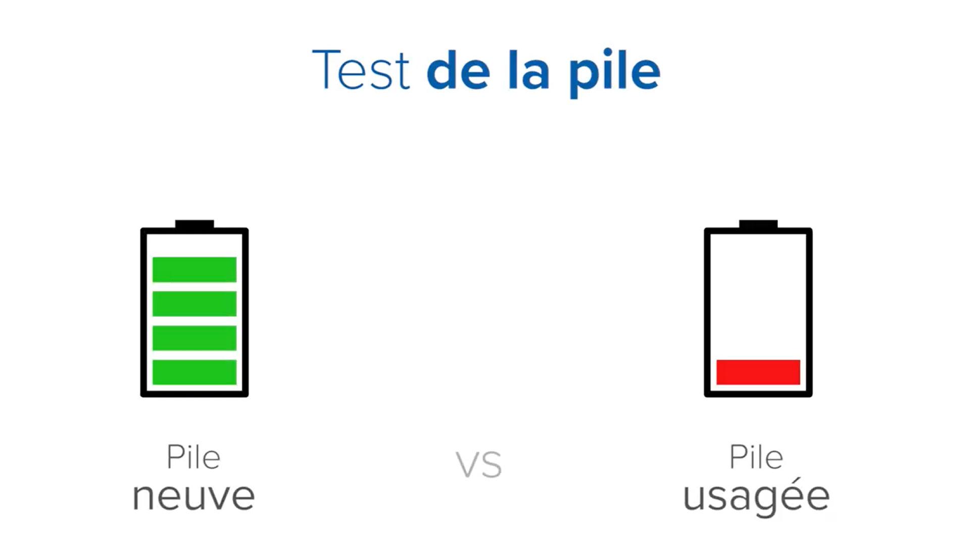 Image montrant comment tester une pile