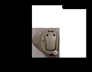 En hörapparat som placeras i örat kallas för en allt-i-örat-hörapparat. Hörapparatens alla delar placeras i örat, inuti hörselgången. Ser hur våra allt-i-örat-hörapparater ser ut.
