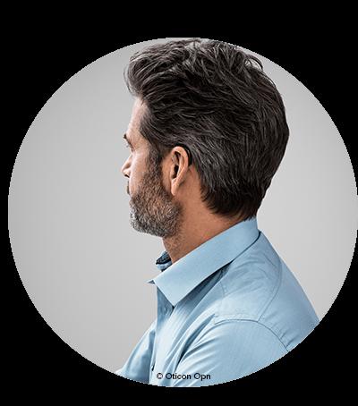 Bakom-örat-hörapparater är diskreta hörapparater som placeras bakom örat. En bakom-örat-hörapparat är så diskret att den knappt syns. Lär dig om våra bakom-örat-hörapparater.