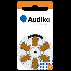 Batterier till hörapparater finns i olika storlekare och hörapparatsbatteri 10 är en storlek som finns att köpa hos Audika.