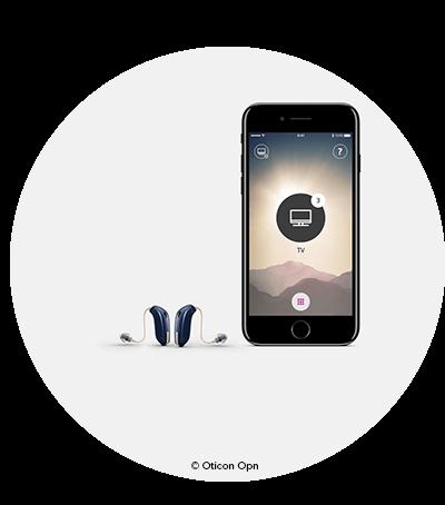 Första internetuppkopplade hörapparaten heter Oticon Opn. Audika erbjuder världens första internetuppkopplade hörapparat. Oticon opn är en hörapparat som går att ansluta till internet och en hörapparat med bluetooth.