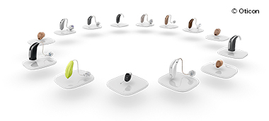 Modeller av hörapparater - prova den hörapparatsmodell som passar dina behov. Oticon har en rad olika hörapparatsmodeller.