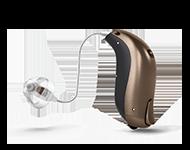 En hörapparat finns som olika modeller. Prova den hörapparatsmodell som passar dina behov. Modellen på bilden är Bernafon Zerena.