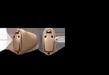 Hörapparater kommer i olika modeller. Hörapparatsmodeller kan vara olika stora och komma från olika märken. Detta är hörapparatsmodellen Oticon Siya IIC.