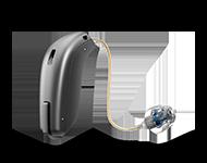 Oticon har många hörapparatsmodeller. Prova den modell av hörapparat som du tror passar dina behov. Detta är Oticon Siya.