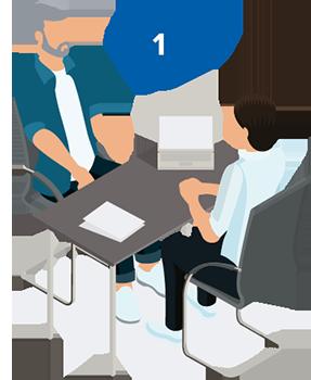 Steg 1 hörseltest är genomgång av dina behov i relation till din hörsel.