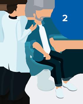 Hörseltest steg 2 är genomgång av ditt öra och trumhinna - förbereder inför hörseltest.