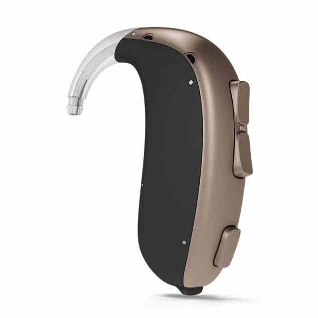 Bernafon Super Power behind-the-ear hearing aids featuring DECS technology for users with severe to profound hearing losses