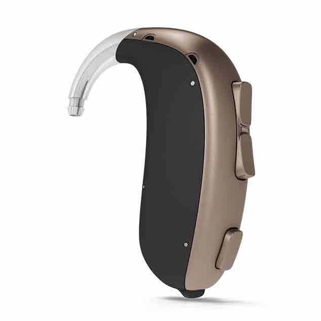 Gli apparecchi acustici Super Power di Bernafon con tecnologia DECS per utenti con perdite uditive da severe a profonde.