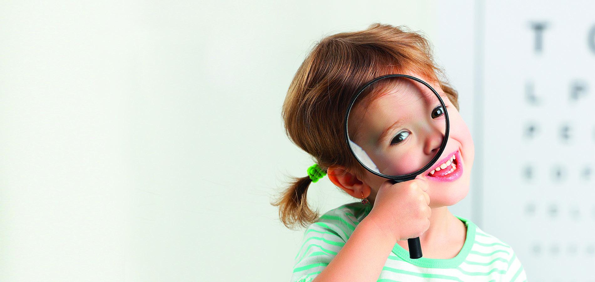 Sekundenschnelle Sehtests für Kinder