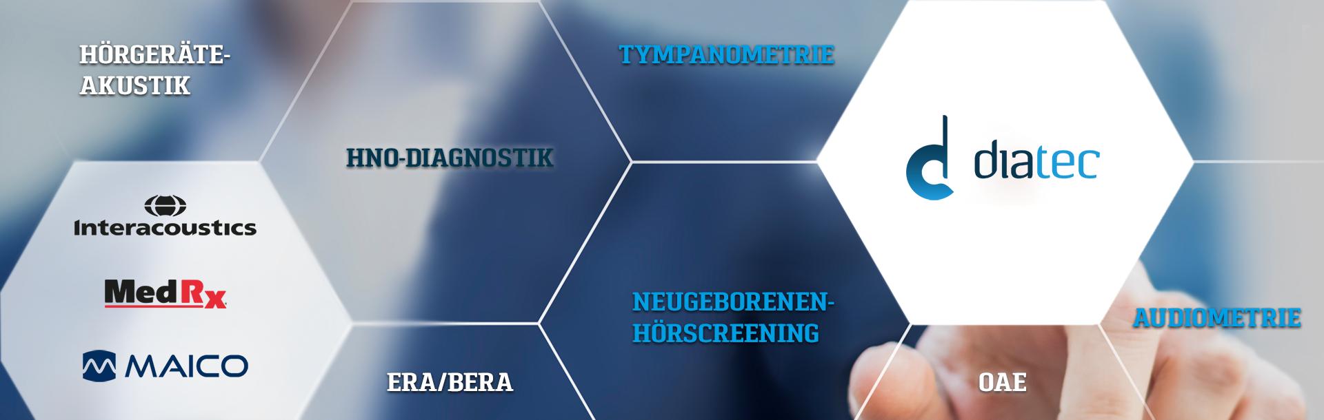Diatec vertreibt Geräte für Hörscreening, Hördiagnostik und klinische Diagnostik