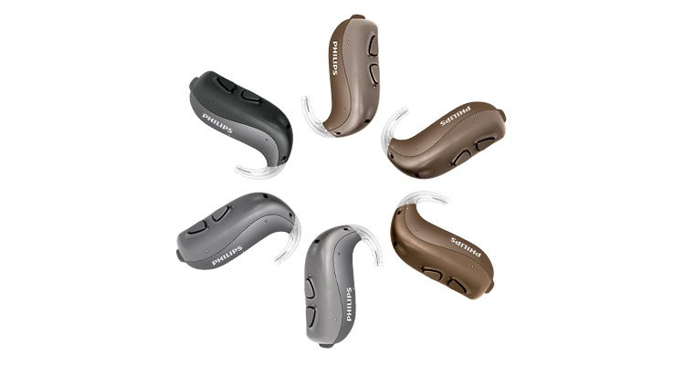 Philips HearLink behind-the-ear hearing aid (BTE)