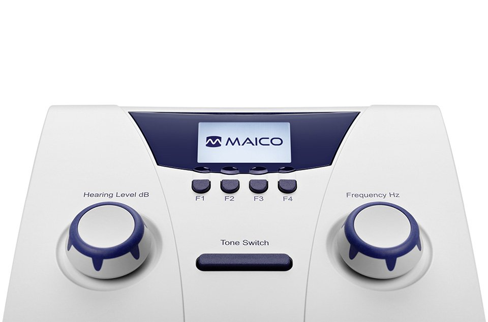 Pure tone and warble tone air conduction audiometry with MAICO MA 25