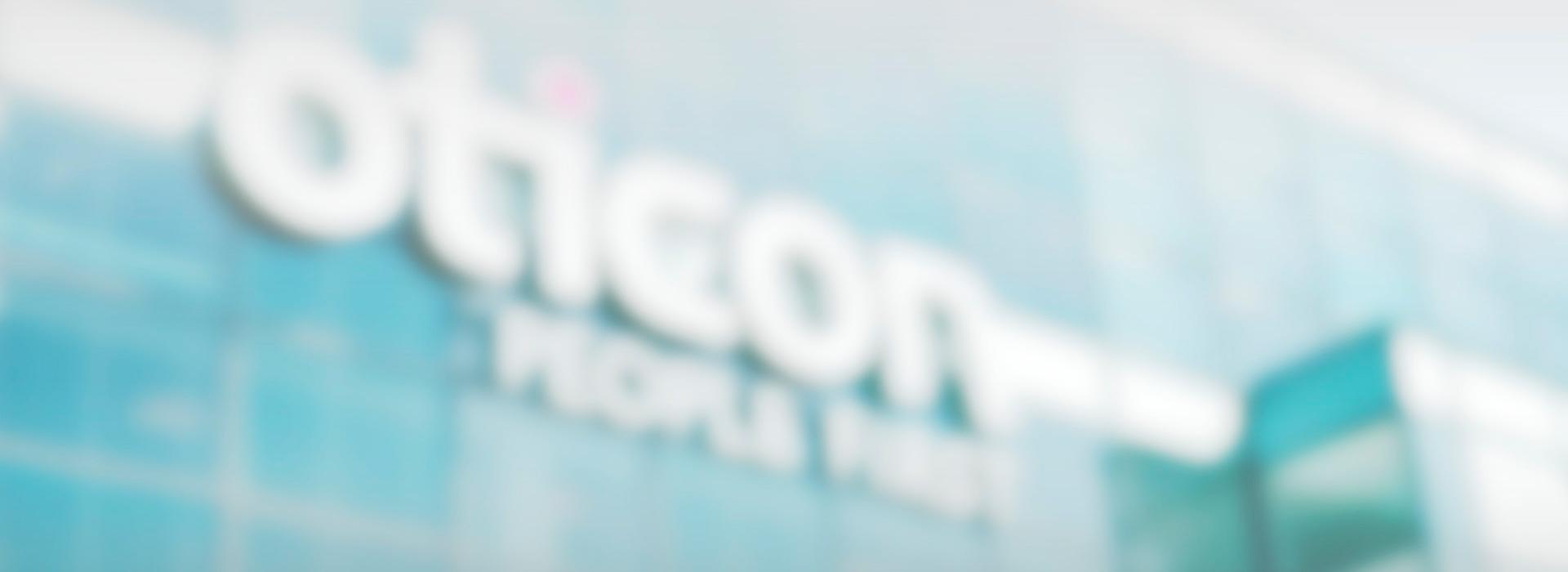 blurry oticon logo
