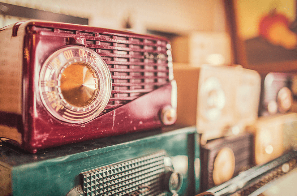 vieille radio vintage