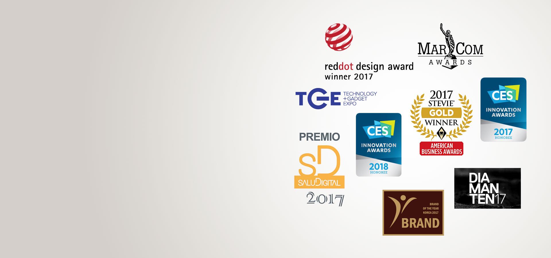 logo des prix récompenses d'Oticon Opn