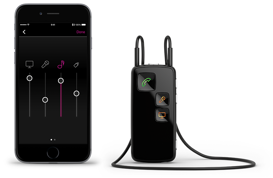 Stream the sound from the TV to your hearing aids | Oticon