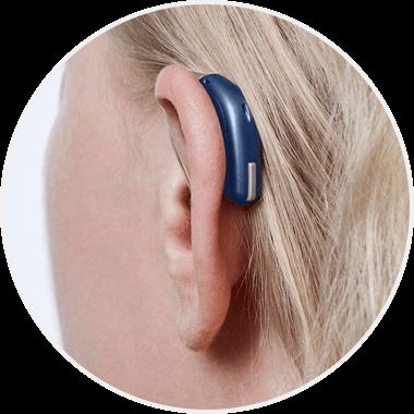 Zauszny aparat słuchowy ze słuchawką