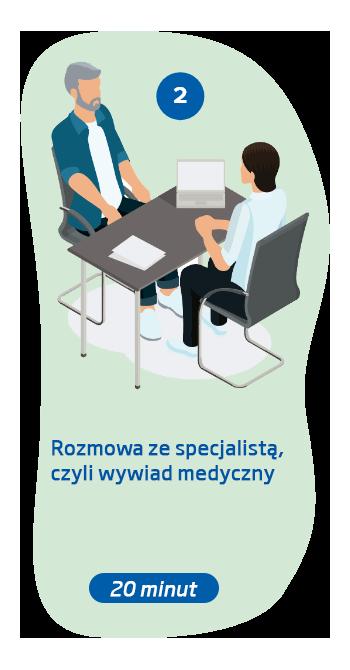Drugi krok polega na wywiadzie medycznym z audiologiem
