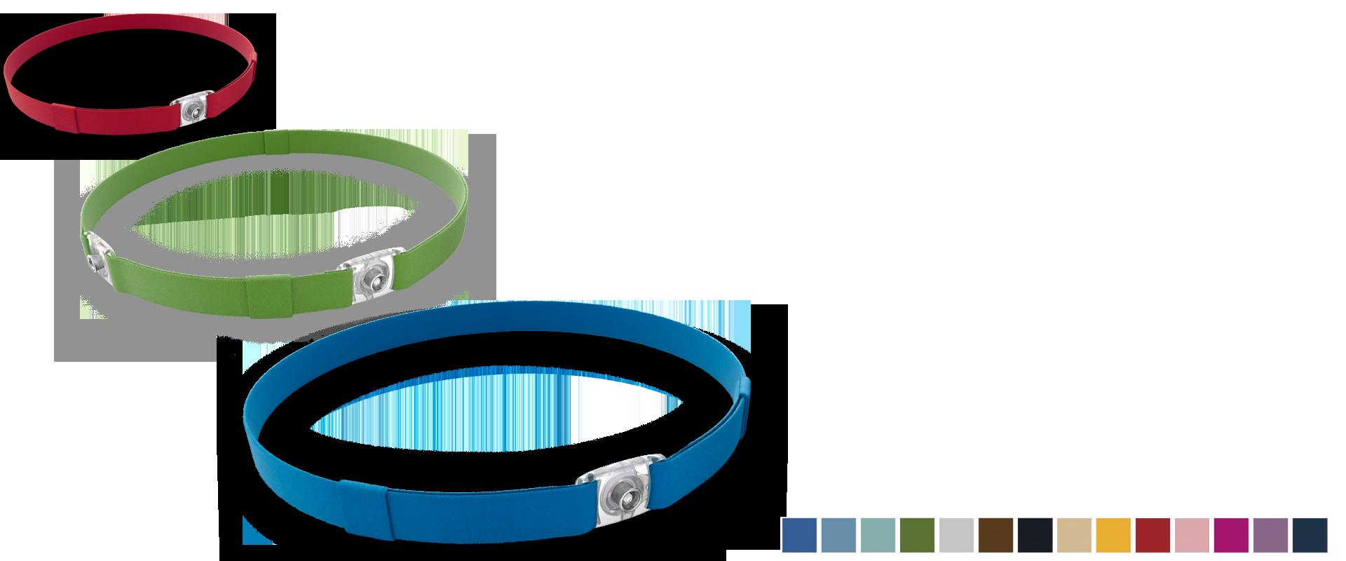 the Ponto Softband colours