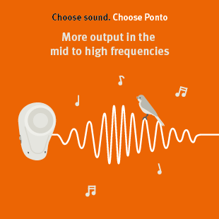Ponto sound processors will give you a more natural perception of volume.