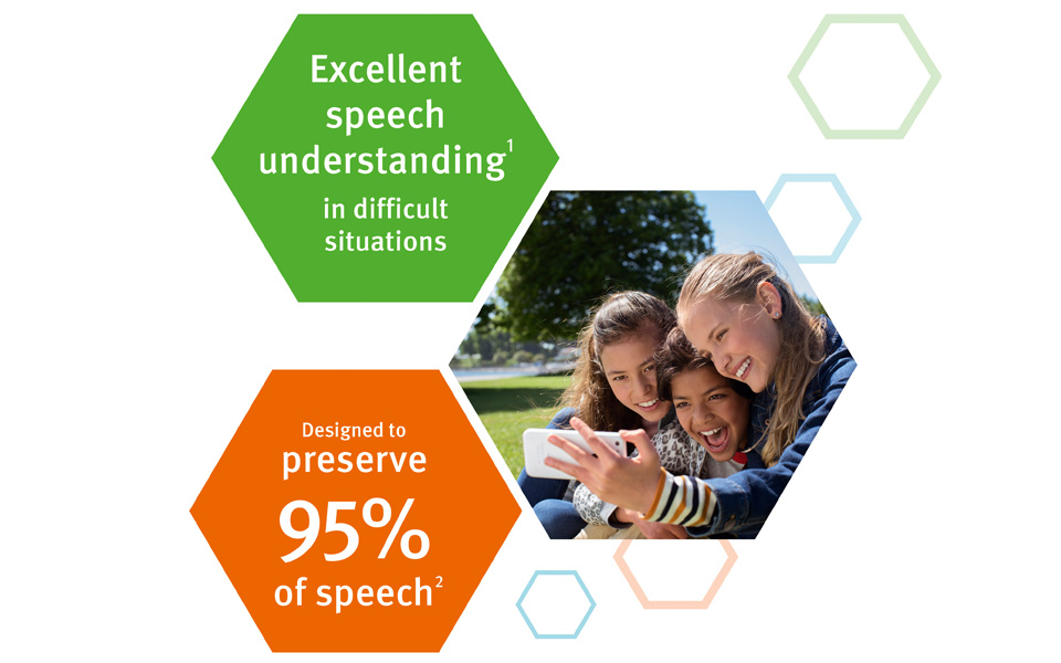 Even in noisy places, Neuro 2 is designed to let you hear what's being said.