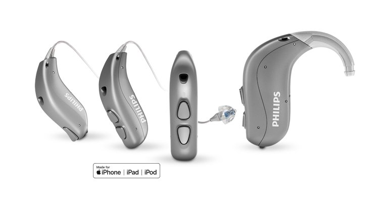 Philips HearLink family BTE with mfi badge