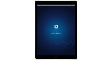 Philips HearLink app on an iPad screen