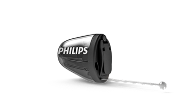 Appareil auditif intra-auriculaire Philips HearLink qui est invisible dans le conduit (IIC)