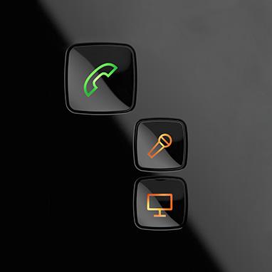 gros plan sur les boutons du streamer rpo