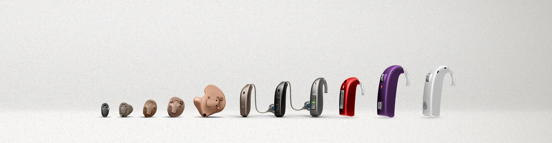 farandole de produits appareils auditifs Oticon
