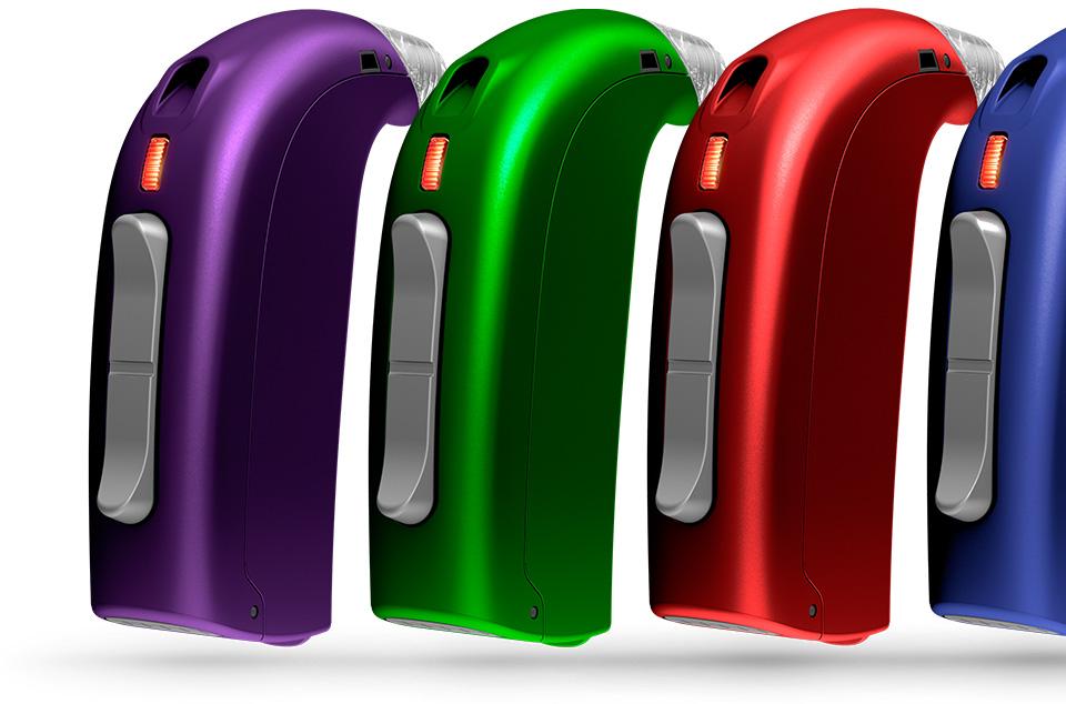 différentes couleurs appareils auditifs pour enfant Sensei