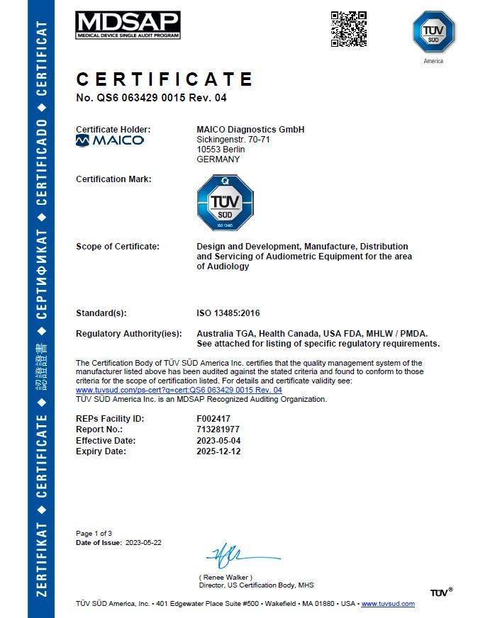 MDSP Zertifikat
