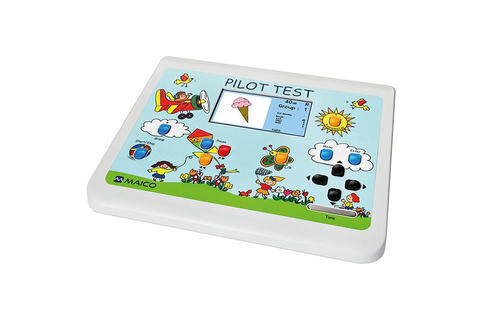 PILOT Test Audiometer für Kinder mit kindgerechten Grafiken