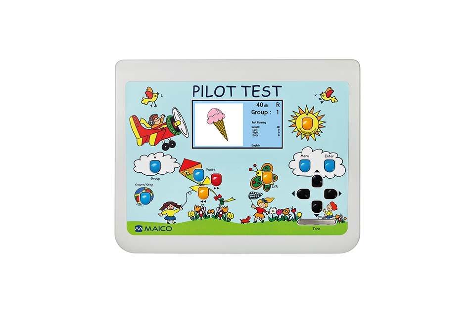 Aufsicht auf das Pilotenhörtest Audiometer für Kinder