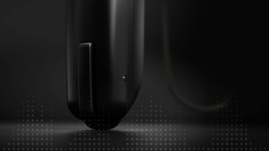 Un apparecchio acustico in una luce interessante