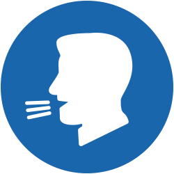 Simbolo immagine simbolo per grida ad alto volume