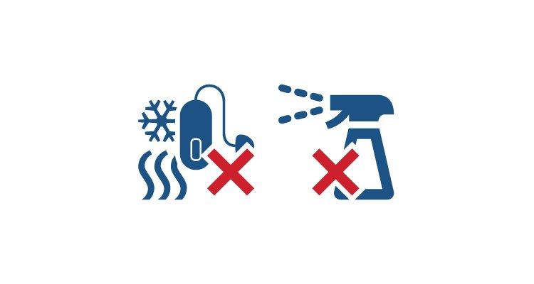 Eenvoudige tips om de levensduur van uw hoortoestellen te maximaliseren. Vermijd chemische middelen en extreme temperaturen - Philips hoortoestellen.