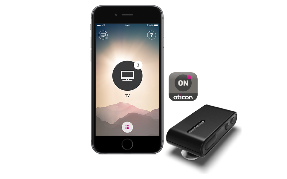Wireless connectivity - with the Oticon ConnectVlip microphone. you can connect your Ponto 4 to a wide range of devices