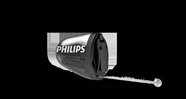 เครื่องช่วยฟังชนิดใส่ในหูของ Philips HearLink ที่มองไม่เห็น (IIC)