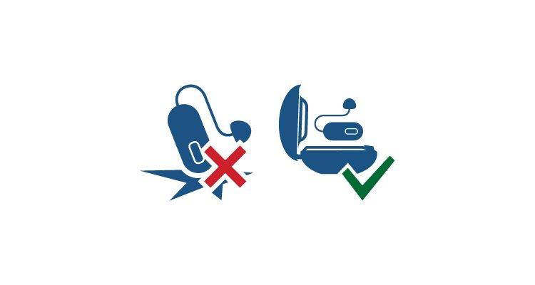 İşitme cihazlarınızın ömrünü uzatmak için basit ipuçları. Düşme ve darbelerden koruyun. Philips işitme cihazları desteği.