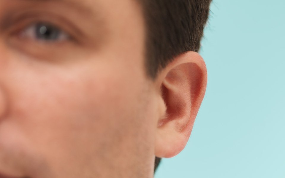 Bypasses ear canal and middle ear problems