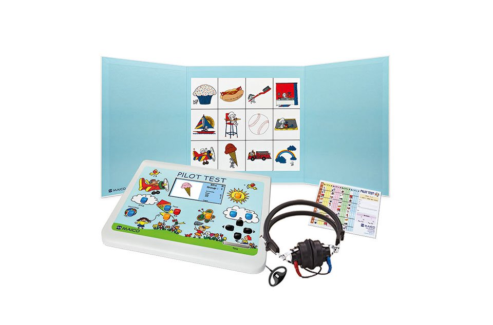 PILOT TEST Pure Tone Audiometer with Select Picture Audiometry with Picture Board and Accessories