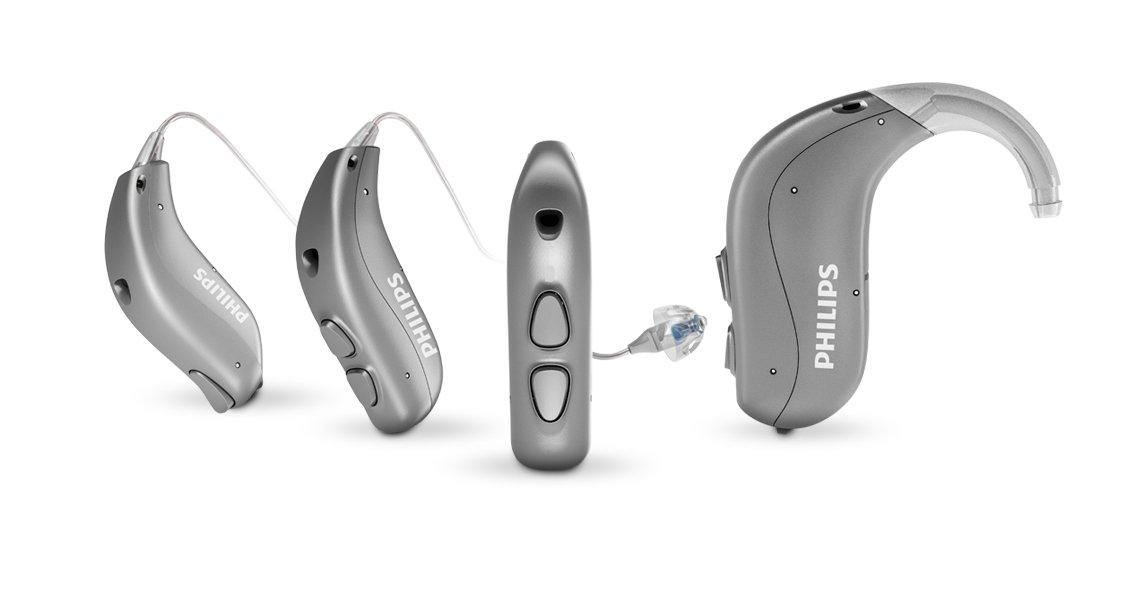 飛利浦 HearLink 全系列助聽器概述。耳掛式和耳內式助聽器。