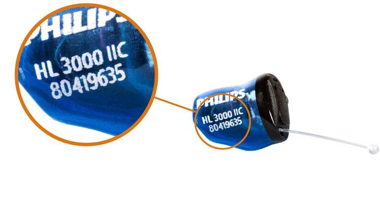 如何知道您使用的是哪種類型的助聽器 — 耳內式助聽器。IIC。